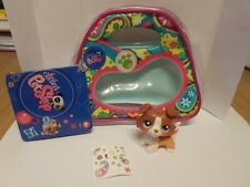 figurine PETSHOP  original chien dog colley1542 collie + pochette  pet shop LPS