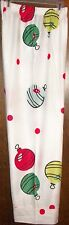 GIRLS PAJAMA PANTS SZ 8 OLD NAVY WHITE WITH CHRISTMAS ORNAMENTS NEW