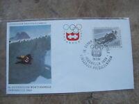 1964 Austria First Day Cover / FDC -IX Innsbruck Winter Olympics --Sledding