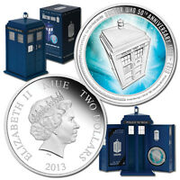 2013 $2 Doctor Who 50th Anniversary 1oz Silver Proof Coin LOT 1