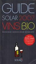 GUIDE SOLAR 2007 DES VINS BIO