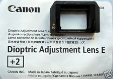 Canon Dioptric Adjustment Lens E+2 for EOS Camera New