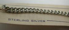 "Antique Ident-Teen Sterling Silver Boys Men's Bracelet Engrave 7"" As Is #SP102"