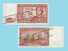 Poland 10 Zloty 1939.  UNC - Reproductions