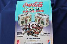 1994 Coca Cola Metal Art Santa Collection by Collect-A-Card Promo Sheet