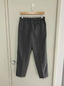Ralph lauren tapered wool-blend flat front crop dress pants in grey size M