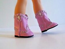 """Pink Stud Cowboy Boots Fits Wellie Wishers 14.5"""" American Girl Clothes Shoes"""