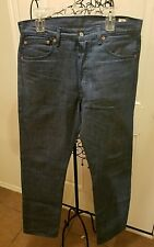 Levis 501 Men's Light Wash Denim Jean's Size 34 x 34 Actual 100% Cotton