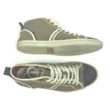 Lacoste Mens Shoes Size 7 USA 39.5 EUR Brown Mid Tops Bruckner Canvas
