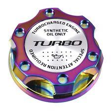 Neo Chrome Oil Filler Cap Silver Turbo Emblem For Ford 7.3L 6.0L 6.4L Powerstoke