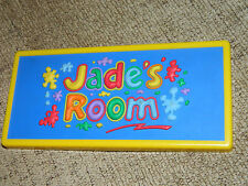 JADE'S  ROOM DOOR NAME PLATE 3D   multi- colour