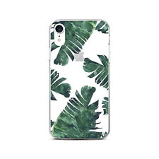 Tropical Leaves Case For New iPhone XR XS Max Rubber iPhone 5s 6s 7 8 Plus Cover