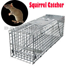 Squirrel / Rat Trap Metal Humane Large Pest Animal  Cage Catcher 61*19*21cm