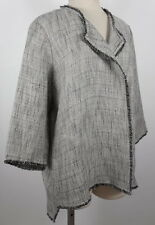New Marina Rinaldi sz 25 / US 16-18 woven black white jacket blazer