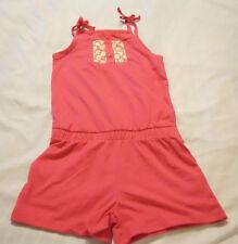 Girls Knit Romper Jumpsuit Shorts Sz M 7-8 One Piece New