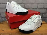 PUMA LADIES UK 5 EU 38 CALI WHITE BLACK TRAINERS RRP £70  EP