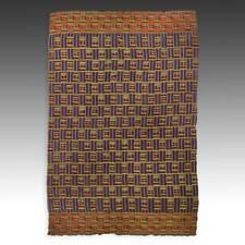 NWENTOMA KENTE CEREMONIAL CLOTH ASHANTI WOVEN RAYON COTTON GHANA WEST AFRICA