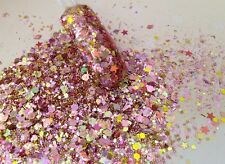 glitter mix nail art acrylic gel   GOLDEN ROSE