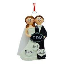 PERSONALIZED Wedding Just Married 2019 Said I Do Christmas Ornament Holiday Gift