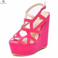 NEW Women Platform Sandals Peep Toe Wedges Sandals Shoes Woman Plus Size 4-15