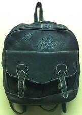 Vintage Brown Pebbled Leather Rucksack Backpack Weekend bag w/ Brass Hardware