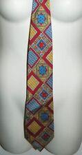 1' CLASSE ALVIERO MARTINI Red Yellow Blue Paisley Men's Pure Silk Tie Necktie