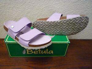 Birkenstock Betula SAO PAULO 41 N Womens 10 Lilac Birko-Flor Cork Leather Lining