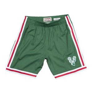 Mitchell & Ness Dark Green NBA Milwaukee Bucks 1971-72 Road Swingman Shorts