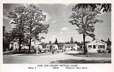 <A5> CANADA Nova Scotia Postcard Photo RPPC c40s SHELBURNE Cape Cod Colony Court