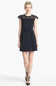 RED Valentino Lace Neckline Jersey Dress (size XL)