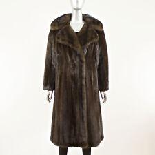 Dark Mahogany Mink Coat 7/8 - Size L (Vintage Furs)