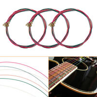 3 x Set of Guitar Strings Replacement Steel String for Acoustic Guitar USA
