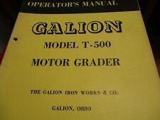 Galion T 500 Motor Grader Operators Manual