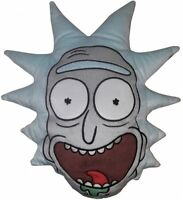 """Official Rick and Morty """"Rick Sanchez"""" Head Embroidered Plush Filled Cushion"""