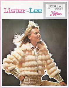 "Vintage 70's RARE LADIES ZIP JACKET Knitting pattern BUST 32""-38"""