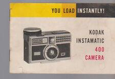 Kodak Instamatic 400 Camera 1963 Manual