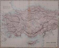 1884 LETTS MAP ASIA MINOR KHODAVENGHIAR SMYRNA RHODES KONIA ANGORA KASTAMUNI