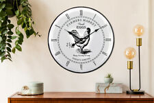 Walplus Vintage Rooster Metal Wall Clock 60cm Decal living room home decorations