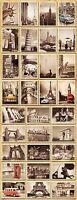 32pcs/Lot Vintage Retro Posters Old Travel Postcards Wall Decoration Cards Set