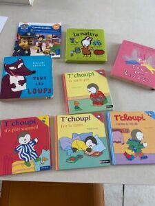 lot livres enfants, tchoupi et autres