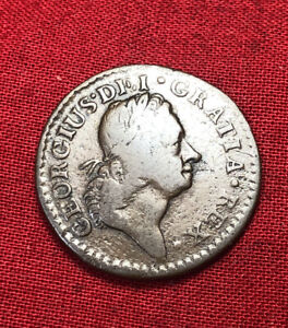 1724 King George I Irish Farthing, Scarcest Of All Woods Coinage, USA Colonial