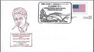 NAVAL EVENT COVER - USS JOHN F. KENNEDY (CV-67) INTL NAVAL REVIEW - USCS CACHET!