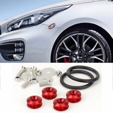 Red Aluminum Quick Release Fasteners Kit For Toyota Front Rear Bumper Fender