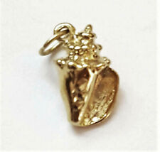 14k double gold filled 3D Sea Shell Conch Pendant Charm