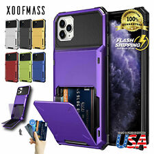 For iPhone 11 Pro MAX XR 8 7 Wallet ID Slot Credit Cards Holder Drop Bumper Case