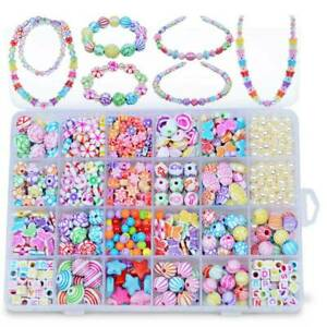1200pcs Girls Kids DIY Bracelet Arts Make Own Beads Jewellery Making Craft #S04