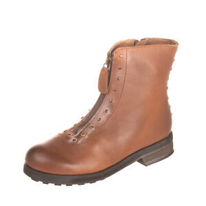 RRP €165 GEI GEI Leather Ankle Boots Size 35 UK 2 US 5 Burnished Dirty Look Stud