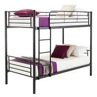 Twin over Twin Metal Bunk Beds Frame Ladder for Kids Adult Bedroom Dorm