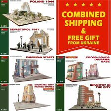 CITY BUILDINGS MINIART 1/35 PLASTIC MODEL KIT BUILDING ACCESSORIES (SET 2)