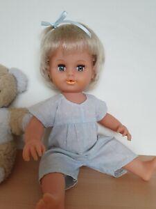 "Vintage Tiny Tears Doll Tonka 1992 & Original Romper  ~ 16"" Vinyl Baby Doll."